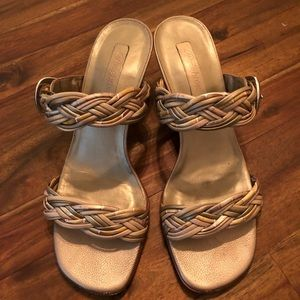 Brighton Shoes - Beautiful Brighton Fiji Sandals (nudes and gold)